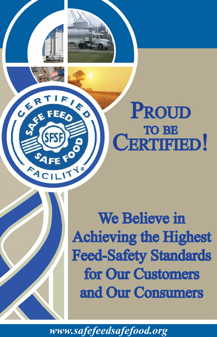 Certified Safe Feed / Safe Food Facility